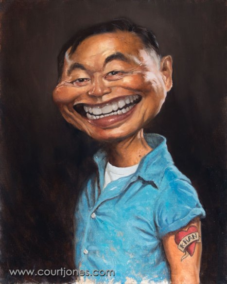 Court-Jones-George-Takei-oil-on-canvas